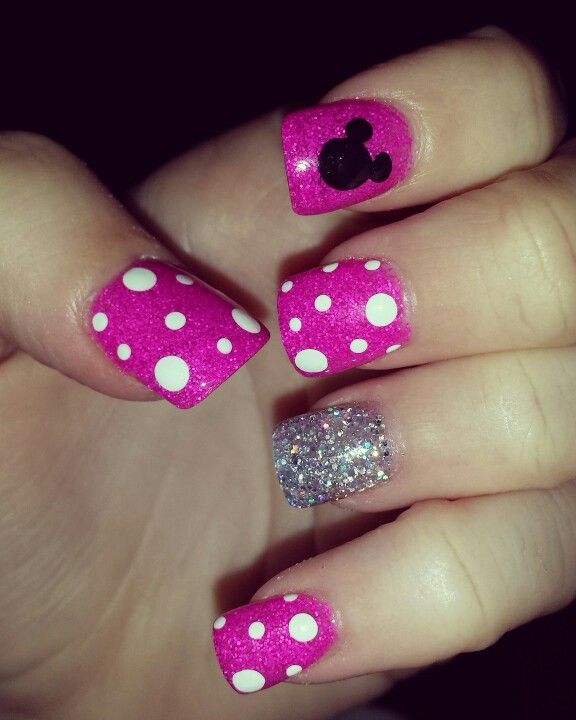 minnie mouse nails nails