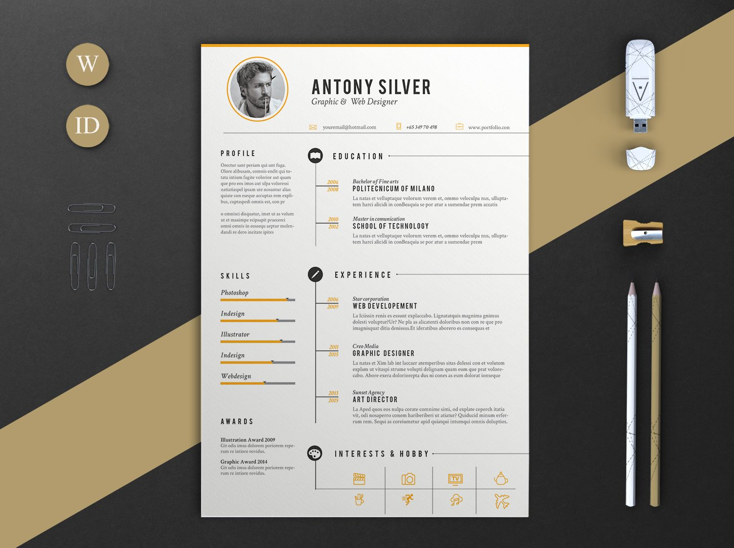 Consulter ce projet Behance « The Resume » https//www