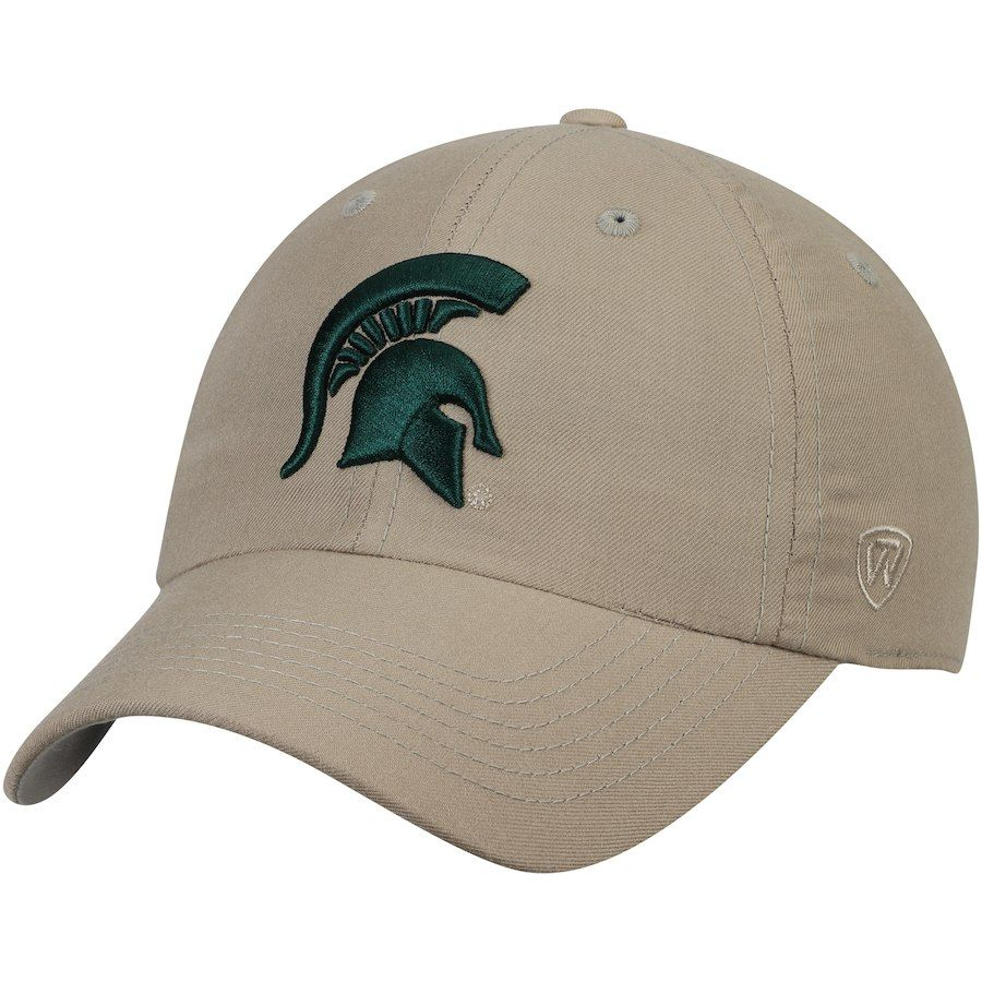 buy popular c6bfe f1fd4 Michigan State Spartans Top of the World Main Unstructured Adjustable Hat –  Khaki, Your Price