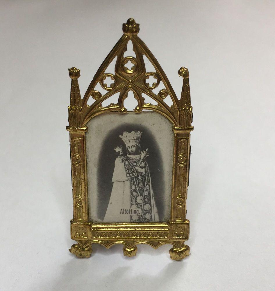 Details zu Um 1900 Miniatur-Rahmen , Goldblech (1), A-0295 ...