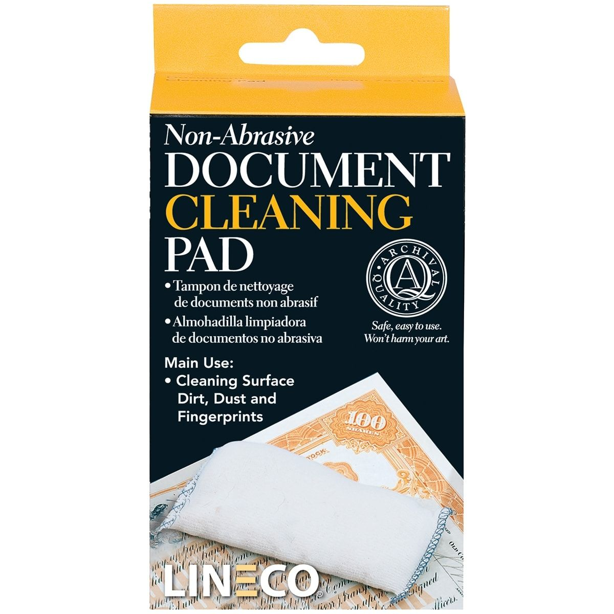 """Non-Abrasive Document Cleaning Pad-2""""X4.75"""""""