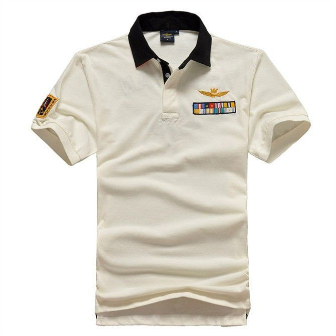 High quality men 39 s polo shirt air force one embroidered for High quality embroidered polo shirts