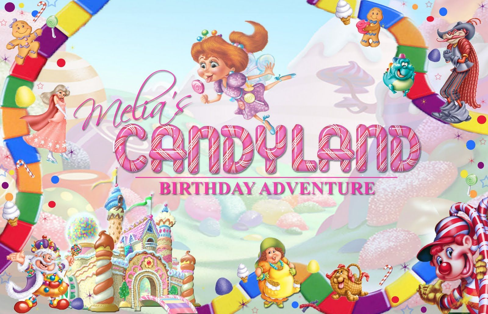 candyland free invite template Google Search Megs 18th bday