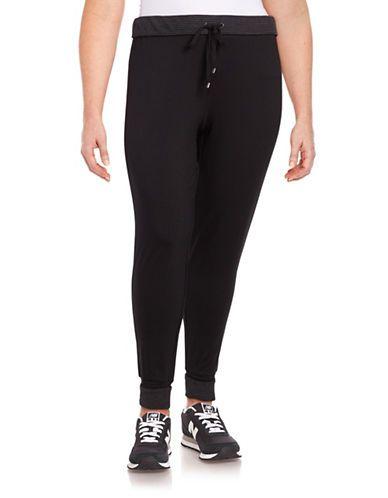 Marc New York Performance Fleece-Lined Jogger Sweatpants Women's Black