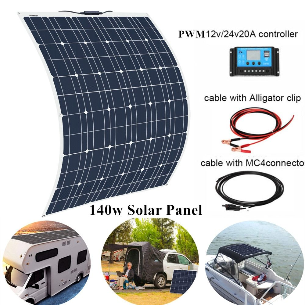 Cheap Solar Cells Buy Directly From China Suppliers 140w 18v Flexible Solar Panel Monocrystalline Cells Module Kit Flexible Solar Panels Solar Panels Solar