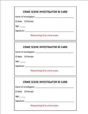 Mystery Party Game  Operation Crime Scene Investigation Our
