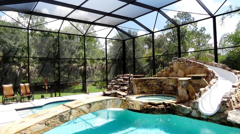 Patio Pool Enclosures Venice Pergolas Absolute Aluminum In 2021 Pool Patio Pool Enclosures Custom Pools