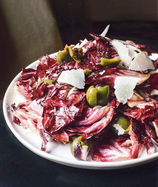 Fall Salad Recipe: Radicchio Salad with Green Olives & Parmesan Recipes from The Kitchn
