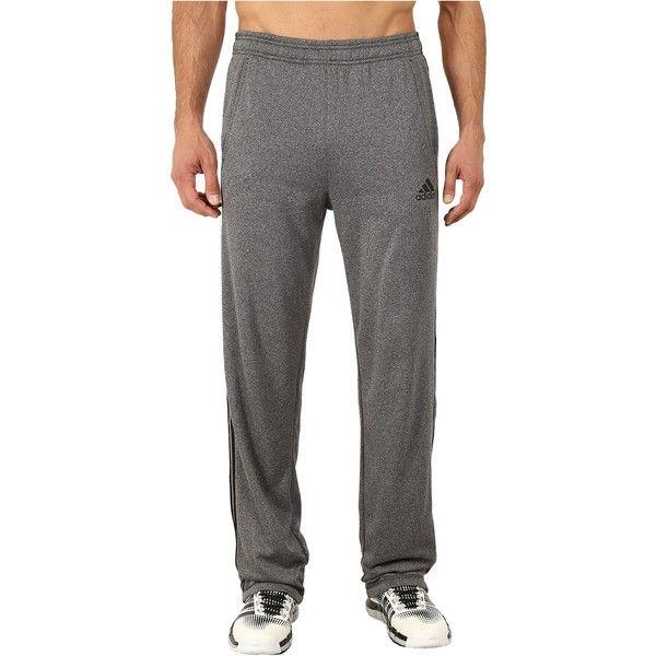 adidas Ultimate Fleece 3S Pants (Dark Grey Heather/Black) Men's... ($31) ❤ liked on Polyvore featuring men's fashion, men's clothing, men's activewear, men's activewear pants, grey, mens activewear and mens activewear pants