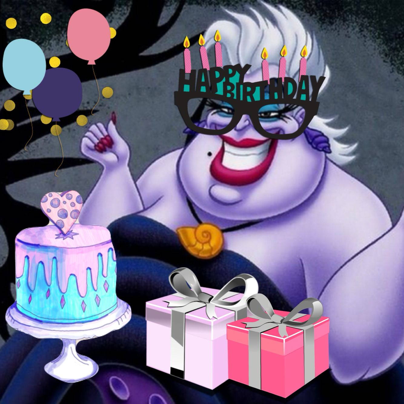 b7f968bccf46f0d9bf7c7990c2331e33 happy birthday ursula the little mermaid birthday party and gift