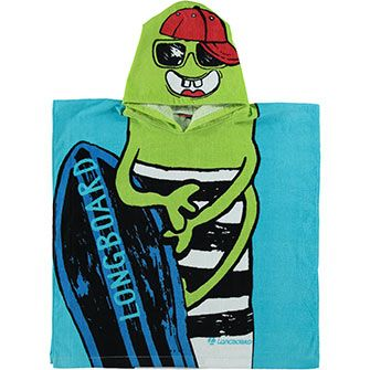 Monster Boarder Hooded Towel