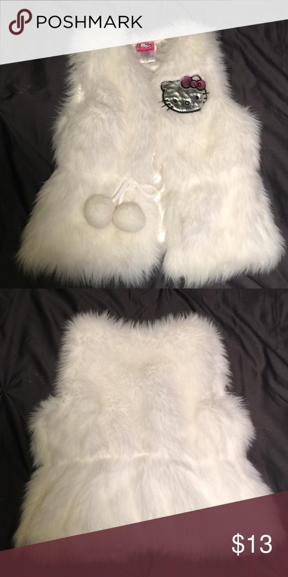 a096964a1 🎀Hello Kitty🎀 Girls Faux Fur Vest