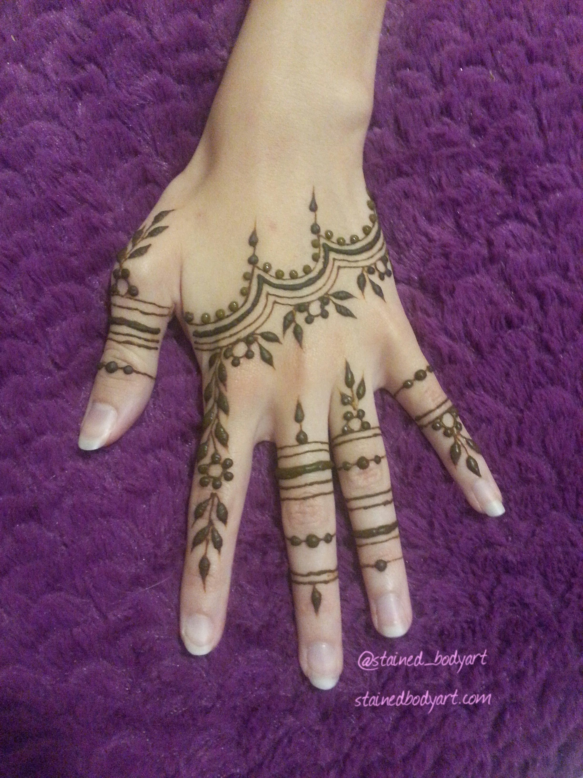 Lightly Stacked Henna Rings Boho Fashion Henna Mehndi Designs
