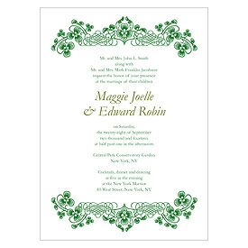Luck Of The Irish Invitation Things Festive Irish Wedding Invitations Printing Wedding Invitations Wedding Invitation Sets
