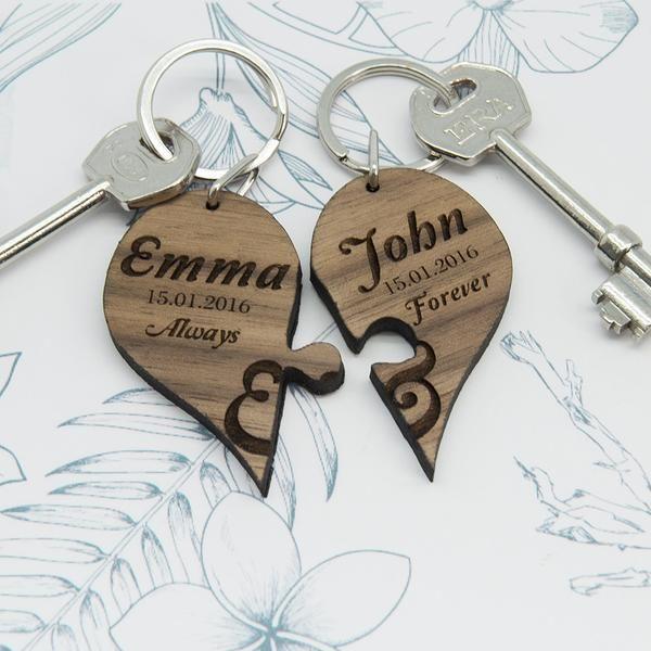 Personalised Marry Me Engraved Engaged Love Photo Keyring Girlfriend Keepsake