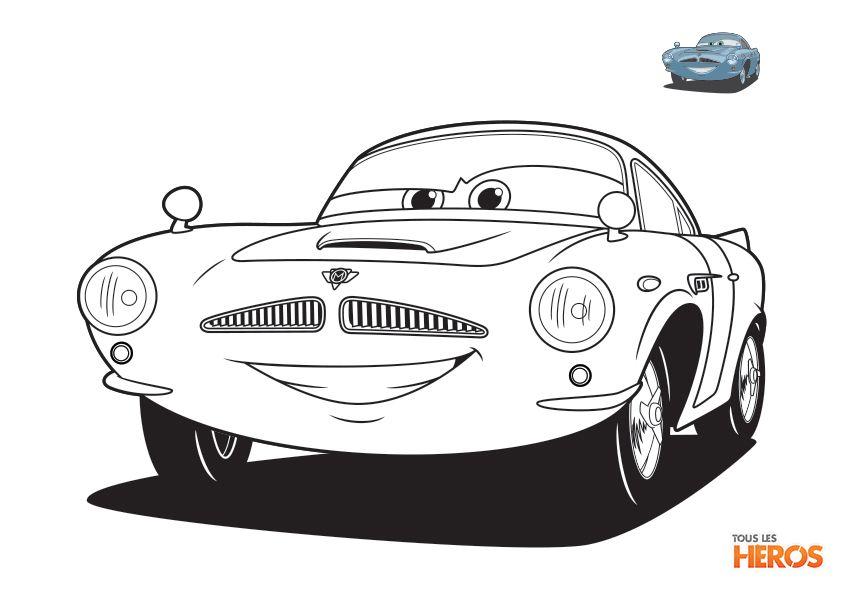 Coloriage cars tous les heros coloriage pinterest - Coloriage enfant cars ...