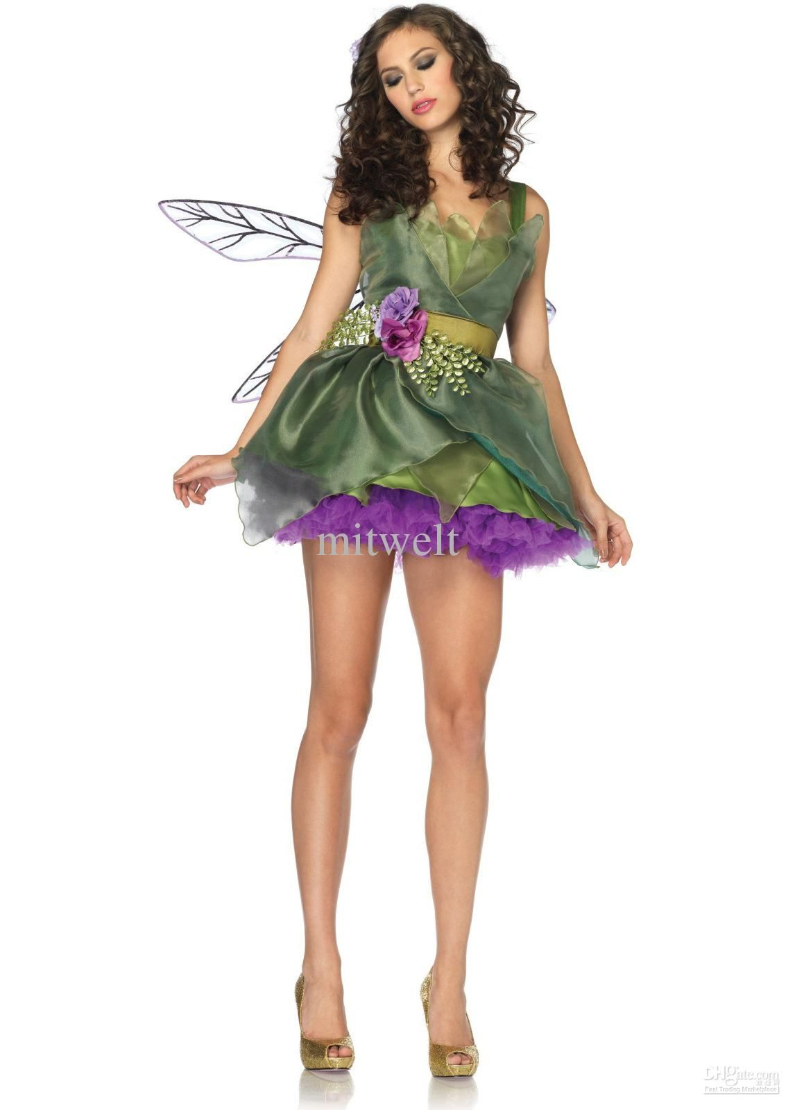 Wholesale Theme Costume - Buy Christmas Elf Costume Dress Green Flower Fairy Angel Animal Cosplay Dress Clothes Clothing Role-playing, $58.0 | DHgate