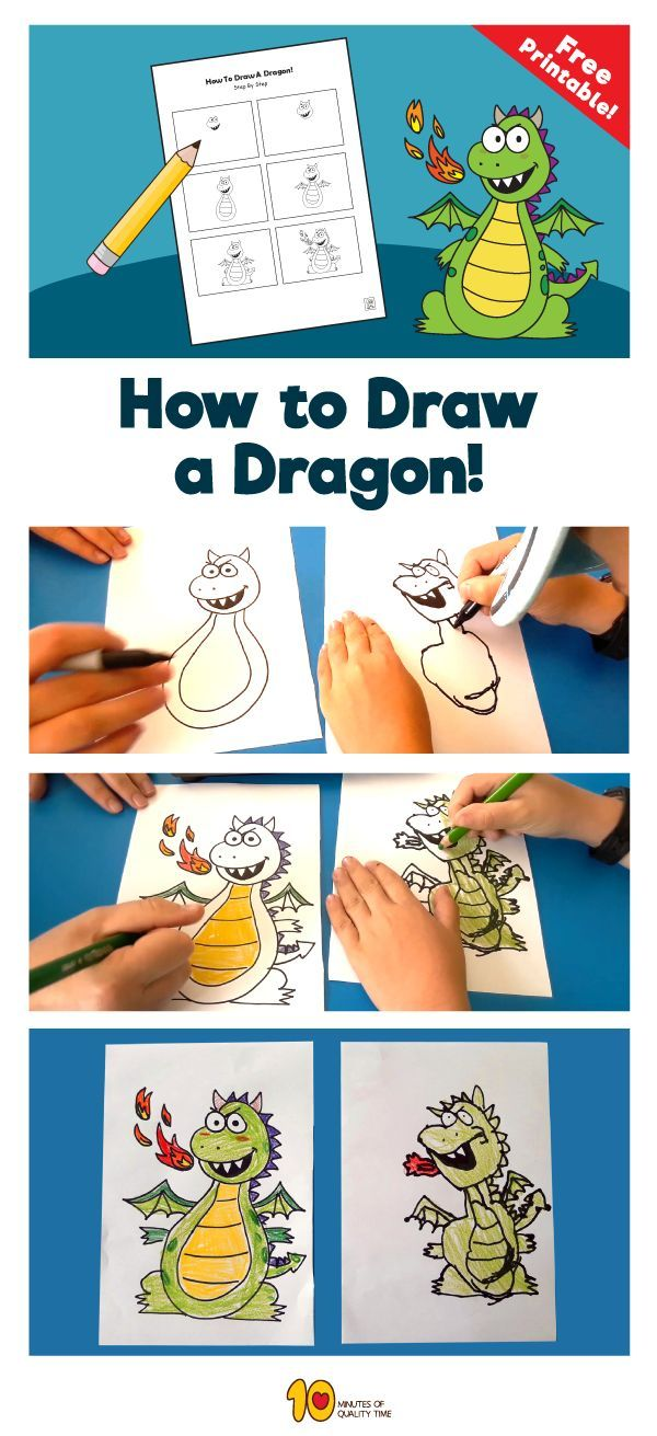 How to Draw a Dragon in 2020 (With images)   Drawing for ...