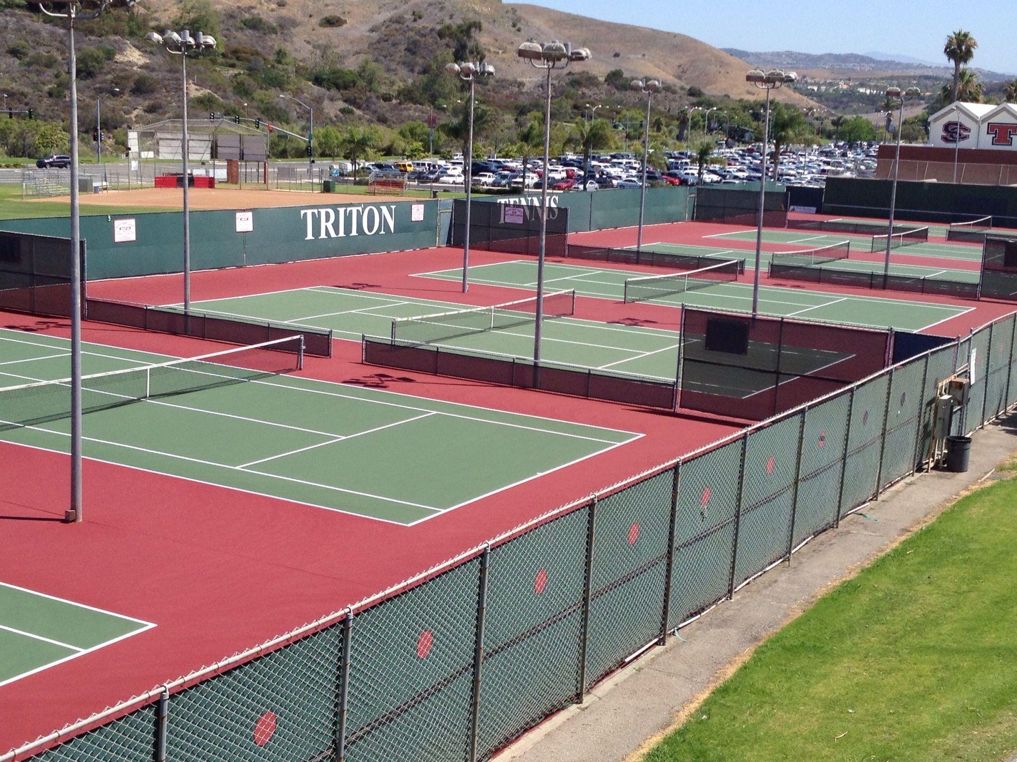 Sportmaster Tenniscourtresurfacing At San Clemente High School In California Quality Installation By Jeff Frantz Prosurfacesports Canchas