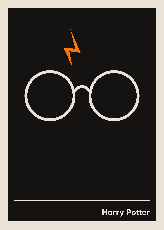 Harry Potter Print Wall Art Minimalist Poster Harry Potter Harry Potter Poster Minimalist Wall Art Harry Potter Print
