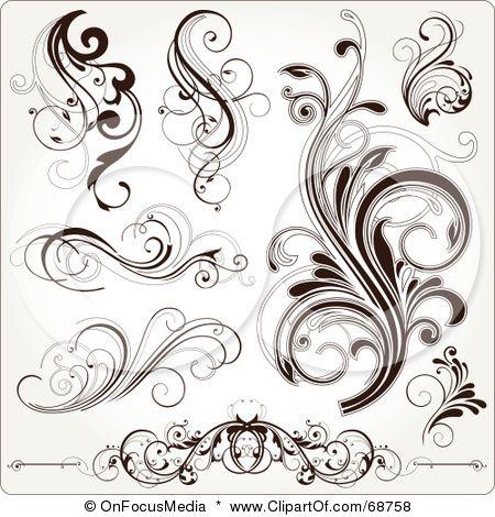 scroll tattoos on filigree small