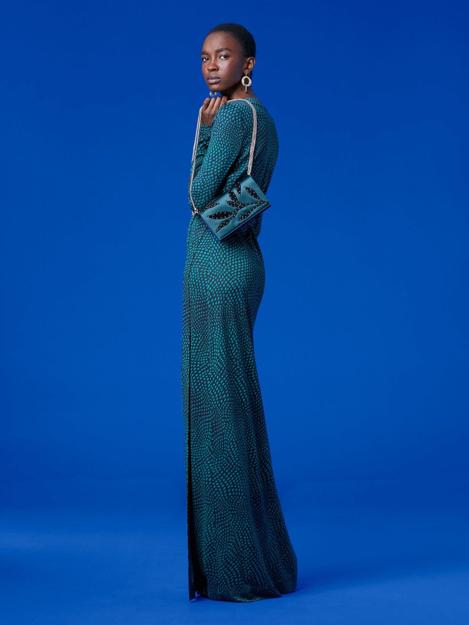 Diane von furstenberg dvf new julian long banded silk jersey wrap