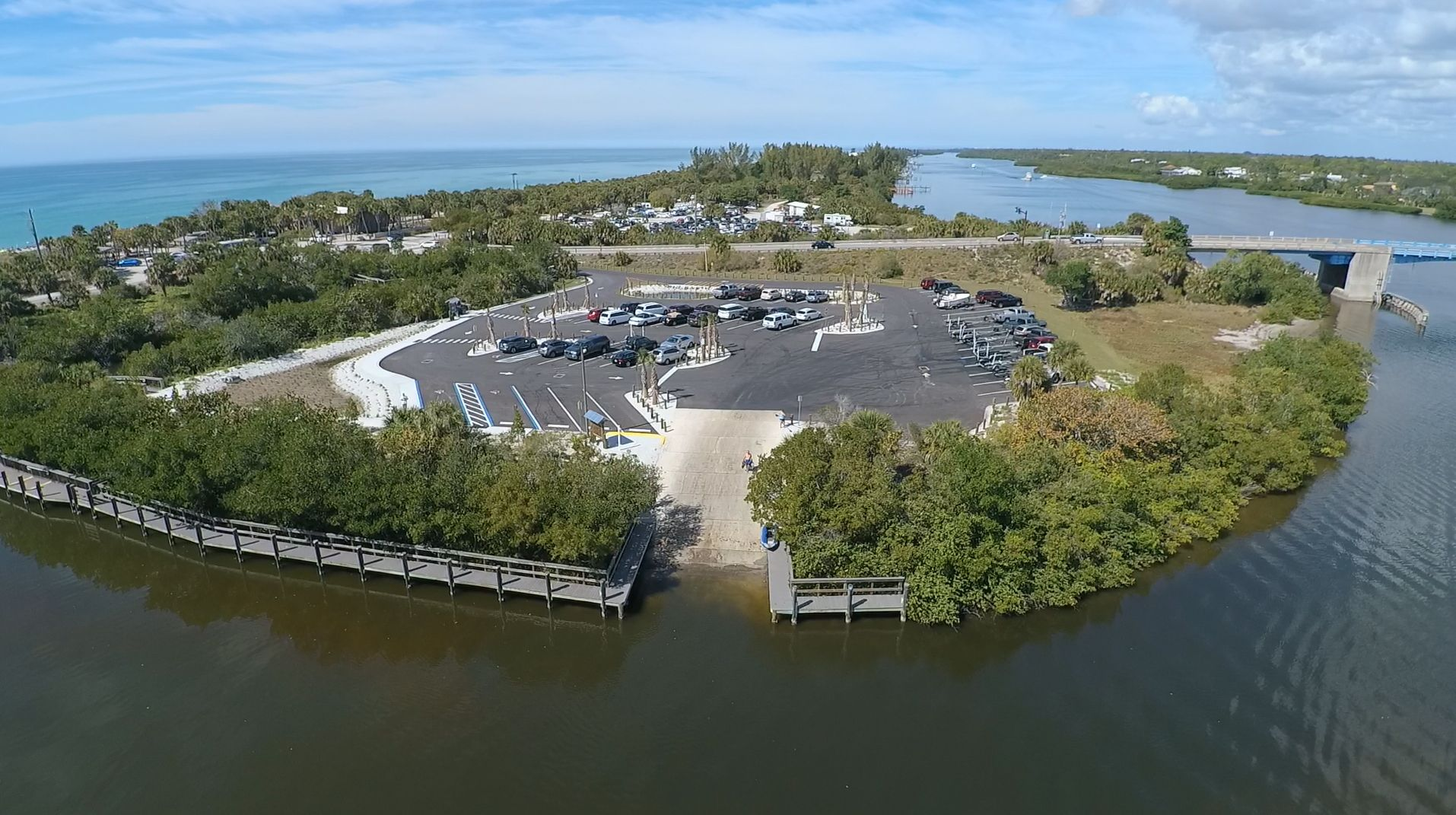 Recently upgraded parking and boat ramp at the Manasota ...