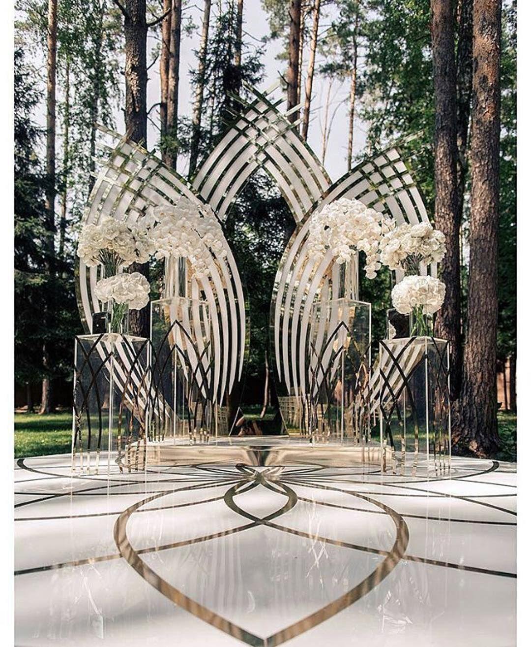 Outside Wedding Ceremony Edmonton: Backdrop Goals #munaluchibride #weddingceremony