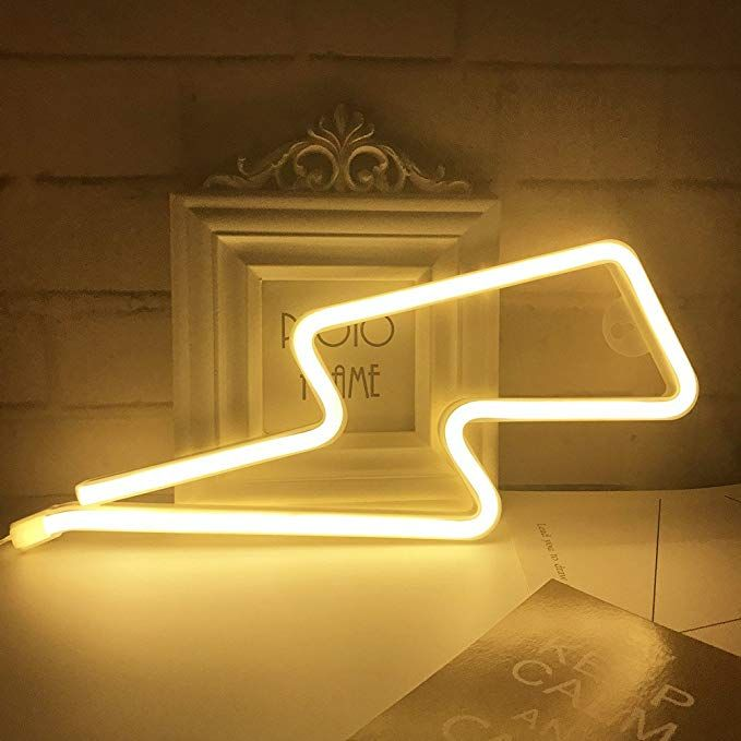 Lightning Bolt Neon Signs,Creative LED Lightning Decor