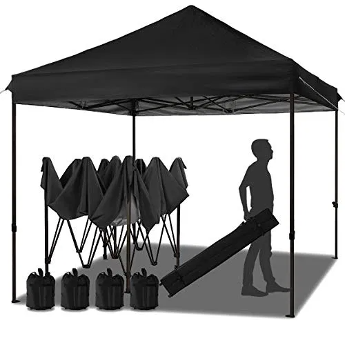 Meway 10ft Patio Awning Garden Shade Commercial Ez Pop Up Canopy Backyardequip Com In 2020 Pop Up Canopy Tent Canopy Tent Patio Awning