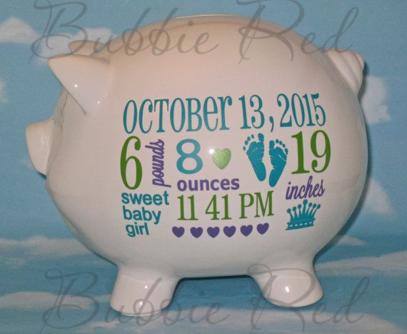 Personalized Piggy Bank For Boys Custom Baby Boy Piggy Bank Etsy Baby Boy Gifts New Baby Products Personalized Piggy Bank