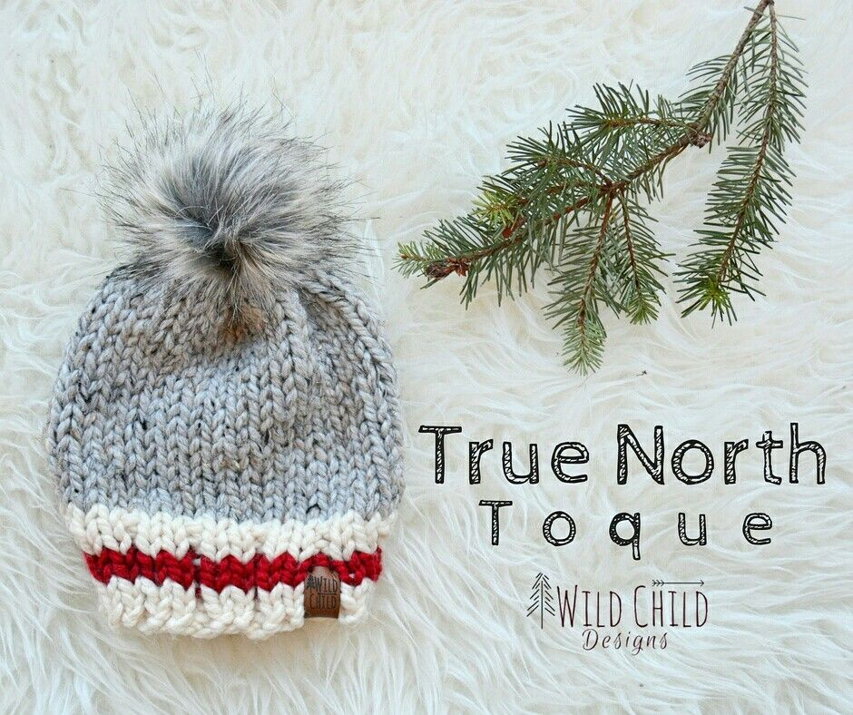 The True North toque - Inspired by classic Canadian winter style. This  handmade knit hat is made with cozy wool acrylic blend yarn and topped with  a faux ... a2a57822480