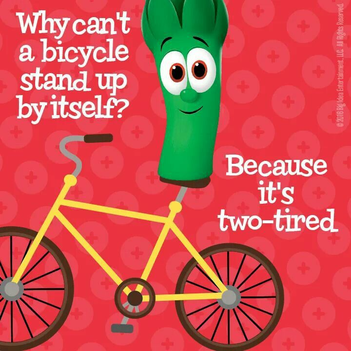 Two Tired Bike Bahahaha Funny Puns For Kids