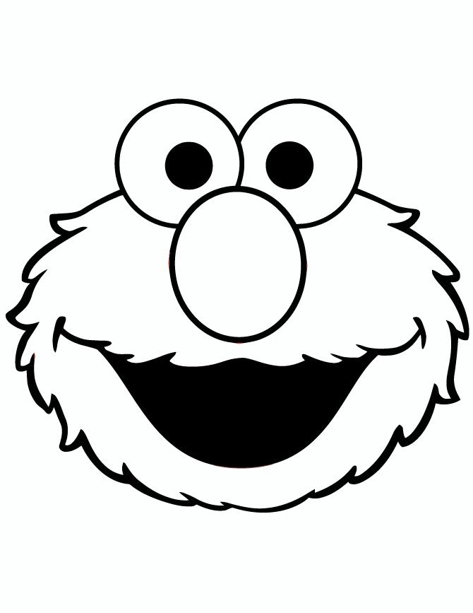 Elmo Stencil Stencils In 2019 Elmo Coloring Pages Sesame Street