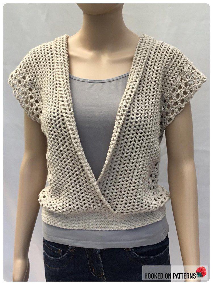 Leora Summer Top Crochet pattern by Hooked on Patterns #crochetponchokids