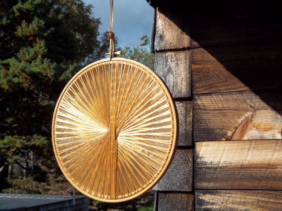 Gold Handmade Light Catcher  - Rustic Wedding Decor - Gift Table, Guest Book Table, Dessert Table, Bar, Indoor or Outdoor
