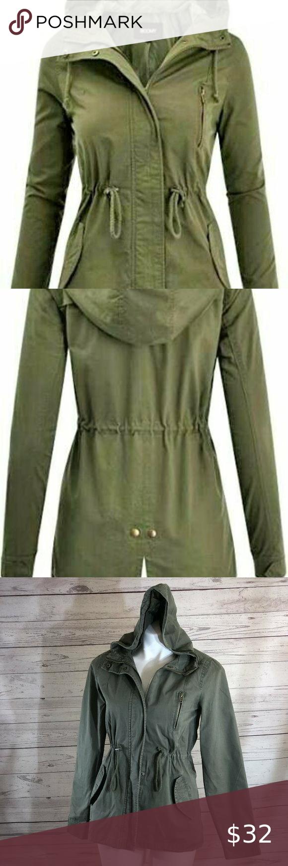 Ambiance Womens Size S Safari Military Jacket Lightweight Anorak Jacket Coats Jackets Women Olive Cargo Jacket [ 1740 x 580 Pixel ]