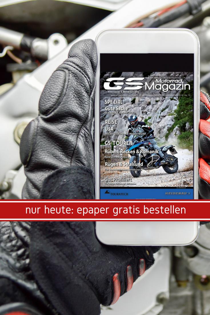 Heute beim epaperMonday: ein kleines Geschenk für alle Motorrad-Fahrer 🎁  🏍 Mit dem Code TOUR könnt ihr euch nämlich die aktuelle Ausgabe vom GS MotorradMagazin gratis herunterladen: https://www.united-kiosk.de/epaperMonday/