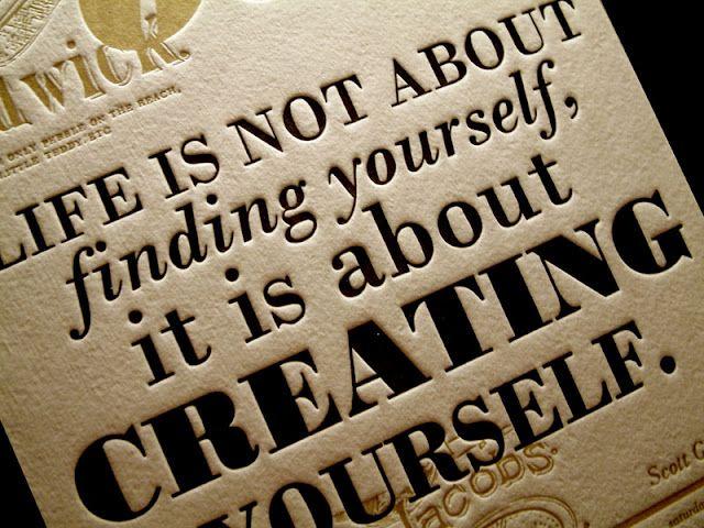 Creating Yourself