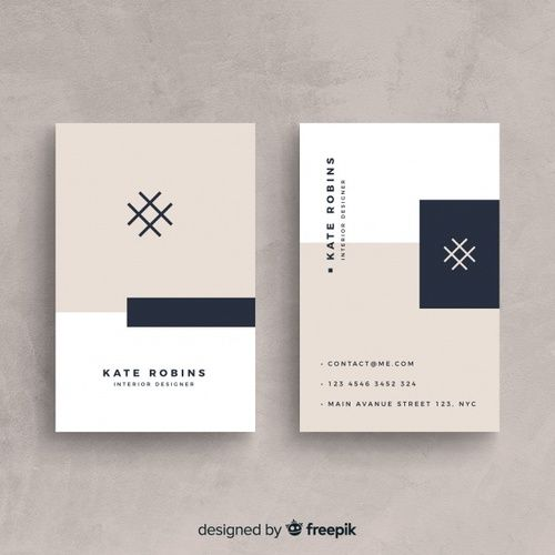 Modern Business Card Template With Elegant Style Modern Business
