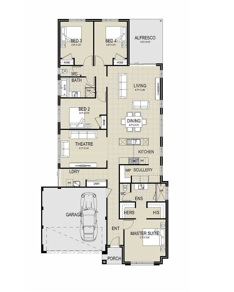 The Edison Floor Plan Make Master Large Office Gym Theater Move Laundry Between It And The Scullery Merge Ba House Plans Australia Floor Plans House Plans