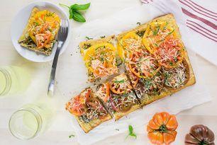 Recipe: Heirloom Tomato and Pesto Tart