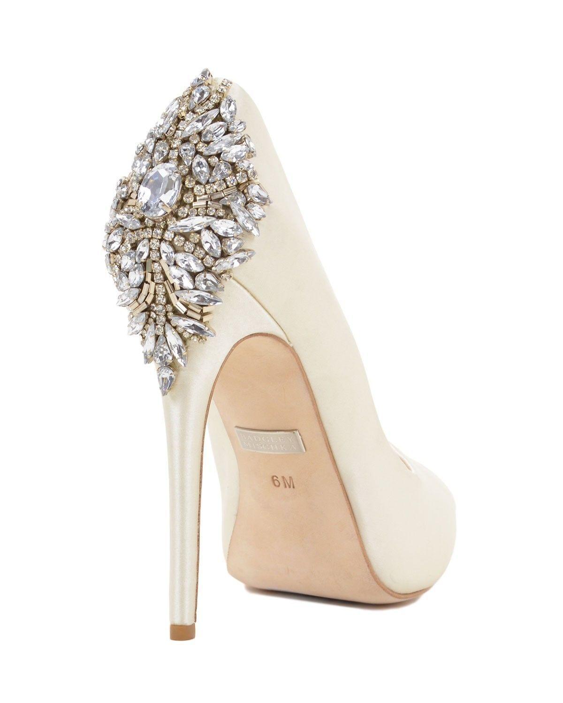Badgley Mischka Kiara Ivory Size 11 | EBay · Bridal ShoesWedding ...