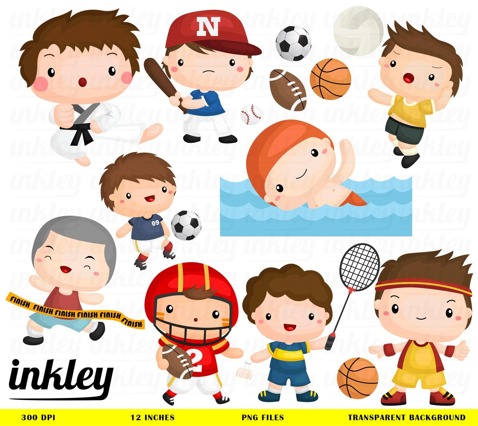 Sport And Boys Clipart Cute Kids Clip Art Sport And Balls Free Svg On Request Clip Art Kids Clipart Free Clip Art