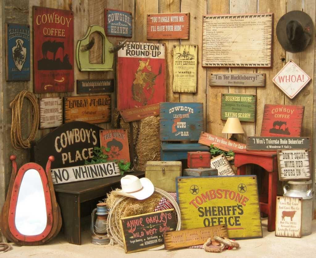 western home | Cowboy Brand Furniture - Antiqued Western Signs & Furniture