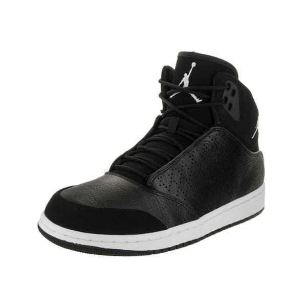 vente authentique se 2014 nouveau Air Jordan 1 Vol Couette Gris Moyen Noir Et Blanc original rabais vente authentique wNP2PBn