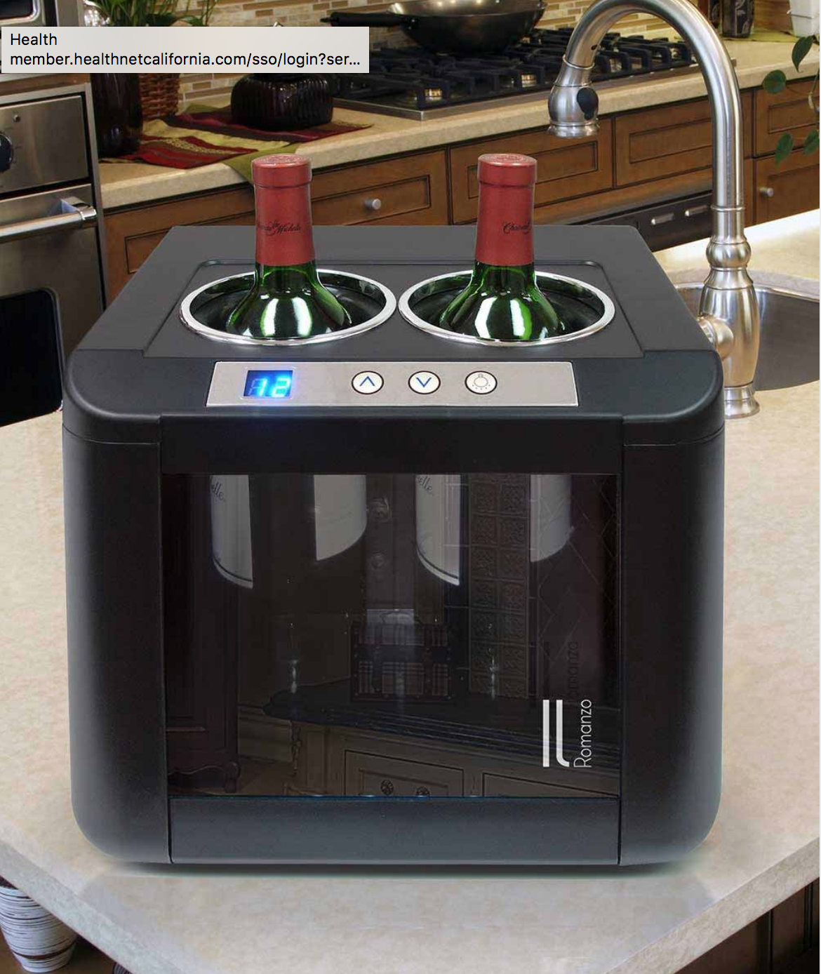 The Modern European Design Of The Il Romanzo 2 Bottle Thermoelectric Open Wine Cooler Creates A Stunning Display While Keeping Your Win With Images Wine Opener Wine Cooler