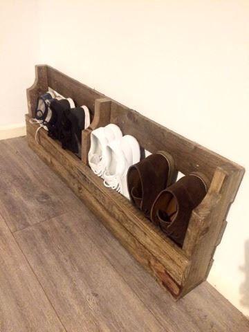 Pallet Shoe Rack Shoe Rack Reclaimed Wood Shoe Rack