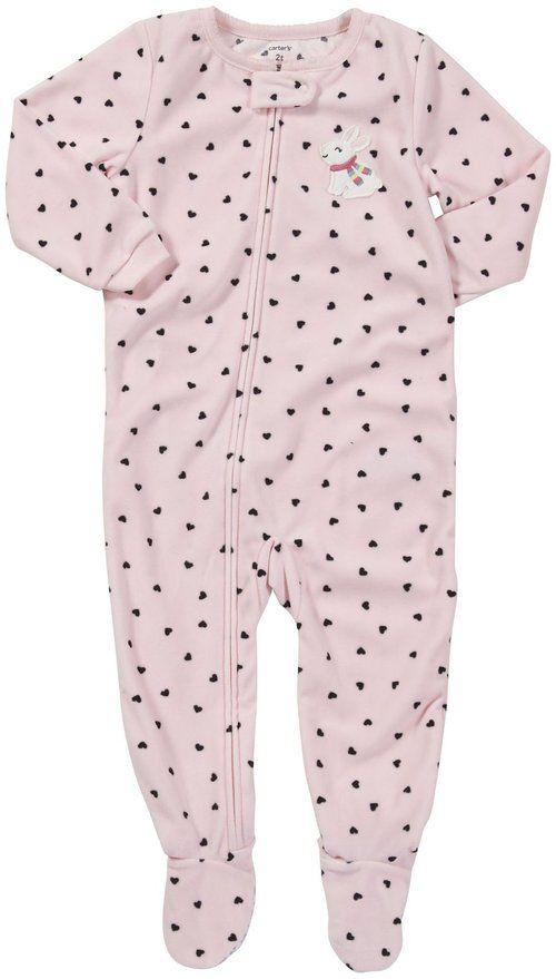 70acec000 Carter s Girls 1-piece Micro-fleece Pajamas (2T