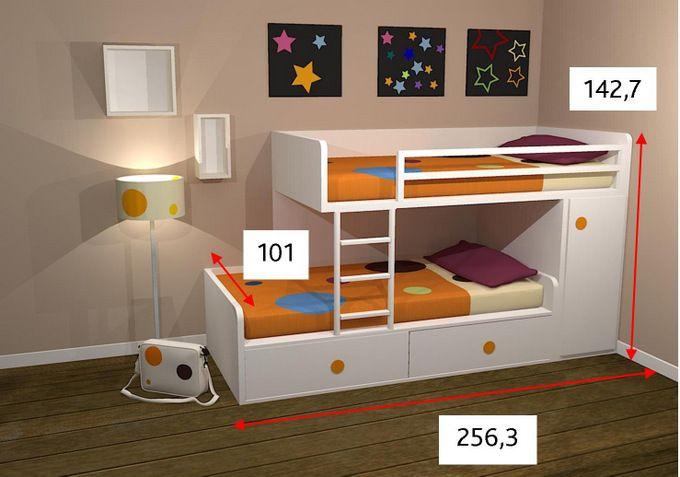 Colores ros en 2019 camas dante camas literas y - Precios de literas para ninos ...